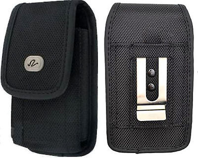 Vertical Heavy Duty Rugged Canvas Case Pouch fr LG Cell Phones