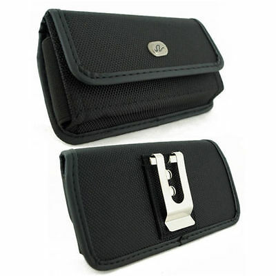 HEAVY DUTY  CLIP RUGGED HOLSTER  POUCH fr Samsung w/ Extended Battery ON IT