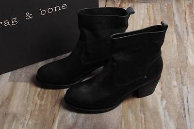 NIB Rag & Bone Mercer II Booties Boots 37 Continuous Black Leather $575