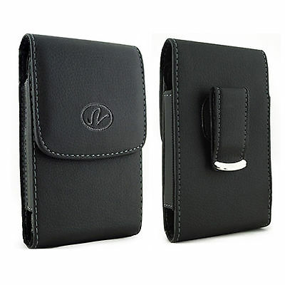 Leather Vertical Belt Clip  Case Pouch Cover FOR Samsung Cell Phones All Carrier