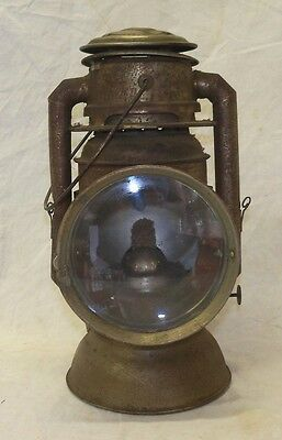 Old Antique No. 18 Ham's Driving Lamp Automobile Carriage Lantern Lamp