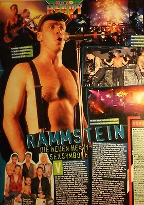 1 german clipping RAMMSTEIN SHIRTLESS ROCK BAND TEEN IDOL BOYS BOY LINDEMANN