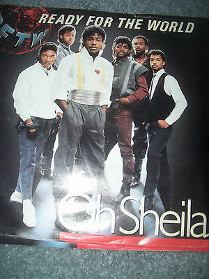 "Ready for the World 45 Oh Sheila  PICTURE SLEEVE 7"" vinyl rpm record"