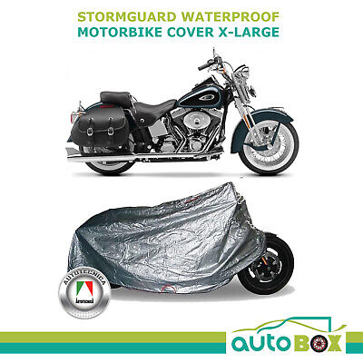 Motorbike Cover Fully Waterproof Extra Large Motorcycle with Saddle Bags Harley