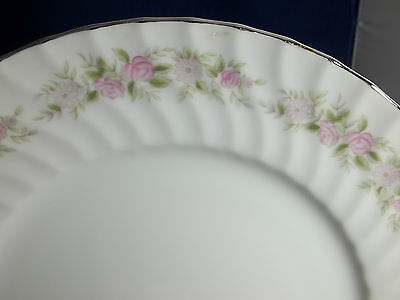DANISCO COLLECTION, TEAHOUSE ROSE FINE CHINA  1 DINNER PLATE,10.5 INCHES ,