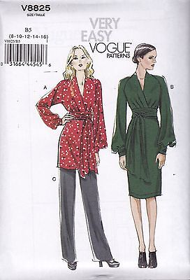 Vogue Sewing Pattern Misses' Tunic Dress & Pants Sizes 8-24 B8825