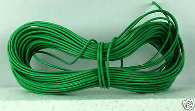 Model Railway Peco or Hornby Point Motor etc Wire 1 x 5m Roll 7/0.2mm 1.4A Green