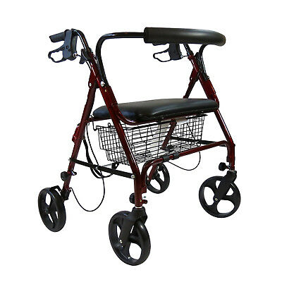 Brand New Medline Heavy Duty Bariatric 4 Wheel Rollator 400 lbs