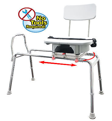 Eagle Sliding Transfer Bench with Cut Out Seat and Back, 77663,77683,77693