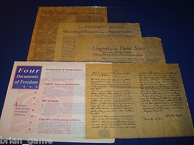 US Historical Document Set ,Declaration, Consitution,.Bill of Rights, Replica
