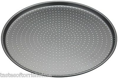 Masterclass Perforated Crusty Bake 32cm Non Stick Round PIzza Cooking Tray