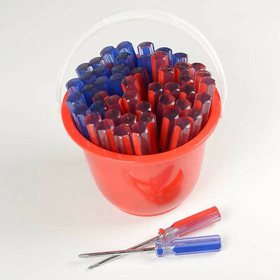 Wholesale Lot of 50 Pc Line Screwdrivers Bucket Flat Phillips Tools Magnetic Tip