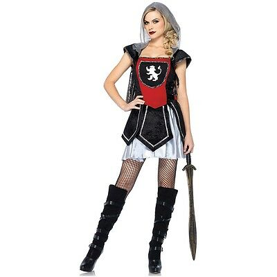 Knight Costume Adult Female Medieval Warrior Halloween Fancy Dress