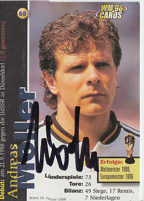 Andreas Möller DFB WM 1998 Panini Cards TOP Orig. Sign. +A27616