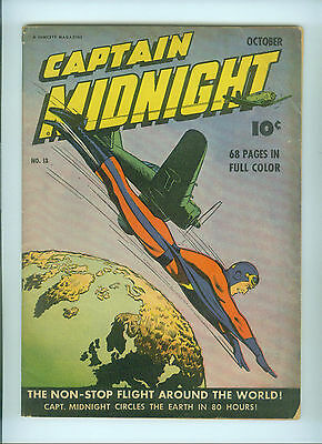 Captain Midnight (1943) 13  Fawcett Publications Tv Series Radio Serial Marvel