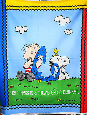 Charlie Brown Linus Project  cotton quilt fabric Panel  44x36""