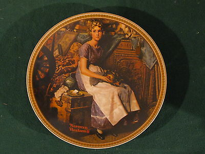 "Norman Rockwell ""Dreaming In The Attic"" Plate"