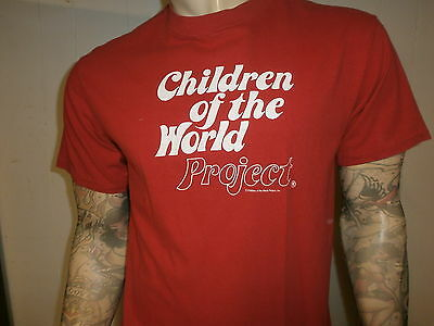 vtg 80s CHILDREN OF WORLD PROJECT T SHIRT Drew Barrymore Alyssa Milano We Are