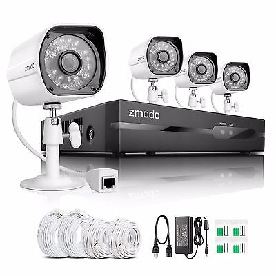 Funlux® 720P HD 4CH NVR Outdoor Network IP sPoE P2P Home Security Camera System