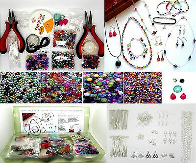Jewellery Making Kit For Beginners - Instructions Included - Findings + Beads K7
