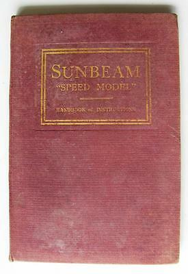 "SUNBEAM ""SPEED MODEL"" - Car Handbook - Jan 1934 - #435"