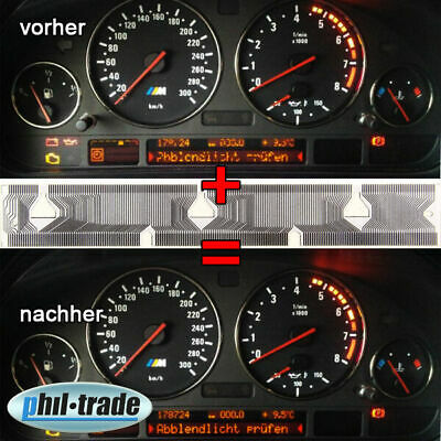 BMW X5 E39 Tacho Multifunktions Display Pixel Reparatur Kontaktfolie Flexband 11