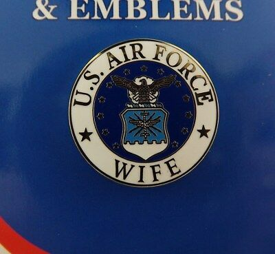 """BRAND NEW Lapel Pin United States Air Force Wife Enamel 15/16"""""""