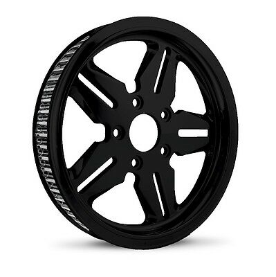 "Dna ""icon"" Gloss Black Rear Pulley 70T 1-1/8"" Harley Touring Softail Dyna"