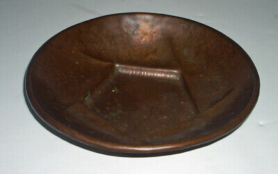 Antique Arts & Crafts Hand Peened / Hammered Copper Bowl / Dish