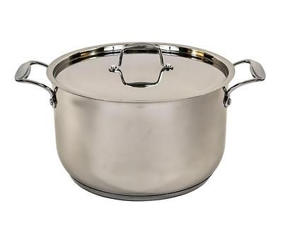 Mastercook Stainless Steel Ovenproof Casserole Stock Stew Soup Pot Pan Saucepan