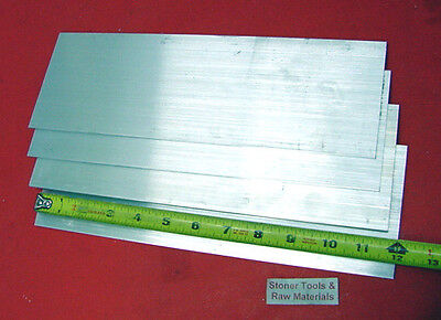 "4 Pieces 1/2"" X 4"" ALUMINUM 6061 FLAT BAR 12"" long T6511 .500"" Plate Mill Stock"