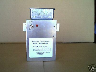 NEW!Static 3 Phase Anderson Converter 1-5 HP Heavy Duty