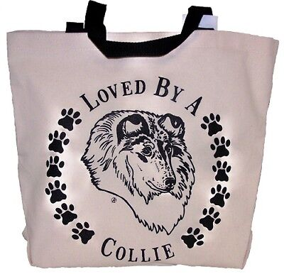Loved By A Collie Tote Bag New  MADE IN USA