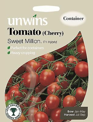 Unwins Pictorial Packet - Vegetable - Tomato (Cherry) Sweet Million - 15 Seeds