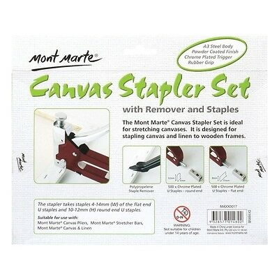 Mont Marte Heavy Duty Canvas Stapler with remover and staples