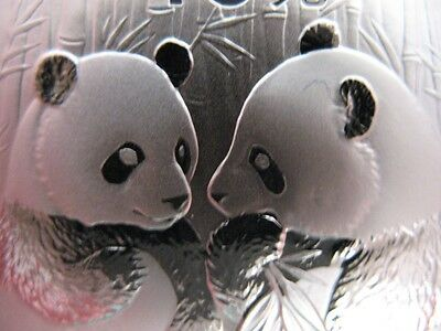 1 Troy Oz. Pure .999 Silver 2009 Baby Pandas -China Mint  Coin Gift Box + Gold