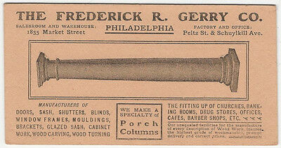 Philadelphia Woodworker & Architectural Woodfittings Company Advertising Blotter