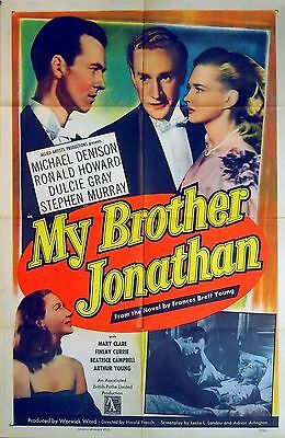 MY BROTHER JONATHAN 1948 Michael Denison, Dulcie Gray, Ronald Howard US 1-SHEET