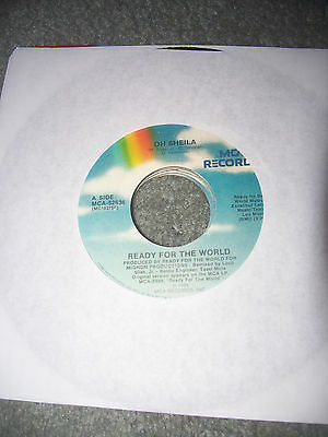 "Ready for the World 45 Oh Sheila / I'm the One Who Loves You rpm record 7"" vinyl"