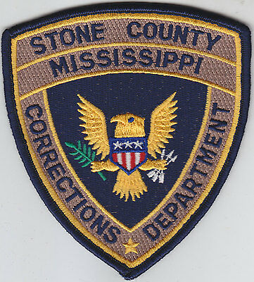 Stone County Mississippi Corrections Department MS police/sheriff/jail patch