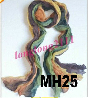 Girl Korea Candy Colorful Womens Long Soft Crinkle Wrap Scarf Shawl Stole MH25