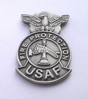USAF FIRE PROTECTION  Military Veteran US AIR FORCE Hat Pin 14511 HO