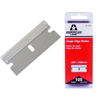 100 Traditional One Sided Single Edge Safety Razor Blades for Window Scraping