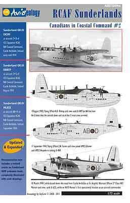RCAF Sunderlands of 422/423 Sqns – CinCC2 – 1/72 scale Aviaeology Decals 'n Docs
