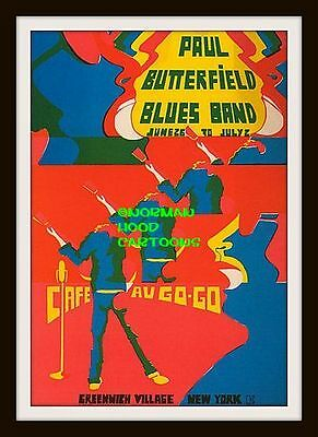 "BUTTERFIELD BLUES BAND GREENWICH- MINI-POSTER PRINT 7"" x 5"""