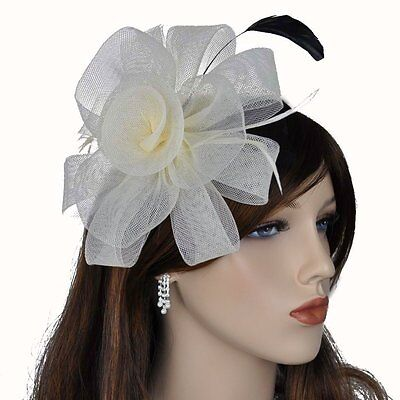 fascinator haargesteck kamm hochzeit haarschmuck ansteckblume blume wei ivory. Black Bedroom Furniture Sets. Home Design Ideas