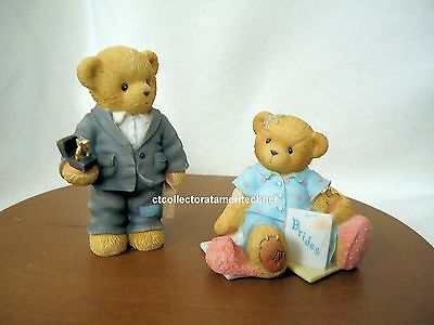 Cherished Teddies Oliver and Olivia - H. Samuels Exclusive 2004 NIBs