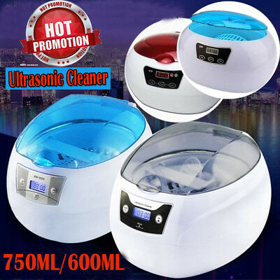 750ML DIGITAL Ultrasonic Cleaner Timer Power 50W For Jewelry Watches Glasses