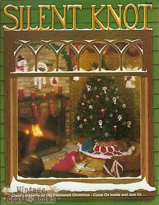 Silent Knot Macrame Vintage Pattern Book Christmas Designs Ornaments NEW 1979
