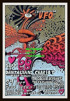 """DANTALIONS CHARIOT, BECK, TEN YEARS AFTER -MINI-POSTER PRINT 7"""" x 5"""""""